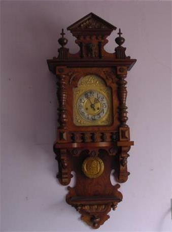Antique Gustav Becker SILESIA Regulator Wall Clock