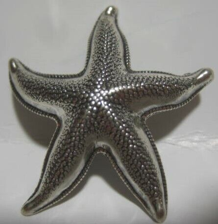 "Old Metal Starfish Pin 1  1/2"" Beau Sterling"