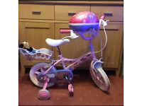 """Girls 12"""" bike and matching helmet"""