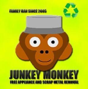 JUNKEY MONKEY FREE FREE FREE APPLIANCE METAL & EWASTE REMOVAL