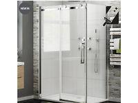 NEW 1200mmx900mm 8mm Luxe Frameless EasyClean Sliding Door Shower Enclosure