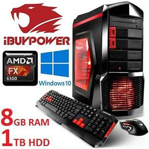 REFURB IBUYPOWER DESKTOP GAMING PC - 111879046 - AMD 6CORE FX-6300 8GB RAM 1TB HDD WINDOWS 10 COMPUTER
