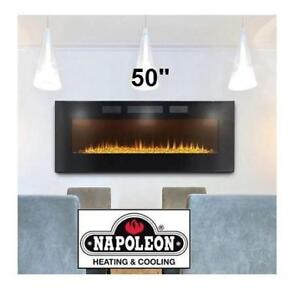 "NEW NAPOLEON ELECTRIC FIREPLACE 50"" NLF50H 218143235 WALL MOUNTED FIREPLACE"