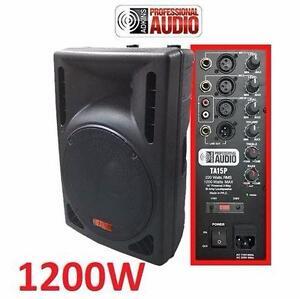 NEW* ADKINS 1200W DJ SPEAKER  15-inch – Bi-Amp 2-Way Active Speaker System MUSIC PERFORMANCE DJ EQUIPMENT AUDIO 97620204