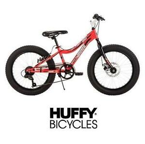 "NEW* WICKED GRIZZLY 20"" BOYS BIKE FAT TIRE BICYCLE BLACK/RED HUFFY BOYS 107825830"