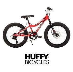 """USED* WICKED GRIZZLY 20"""" BOYS BIKE FAT TIRE BICYCLE - BLACK/RED - HUFFY BOYS BIKE 104639103"""