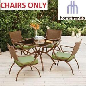 NEW* 4 HOMETRENDS PATIO CHAIRS LG6402-D5PC 260716072 BARCELONA DINING CHAIR FURNITURE CHAIRS ONLY