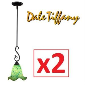 2 NEW DALE TIFFANY 1-LIGHT PENDANTS