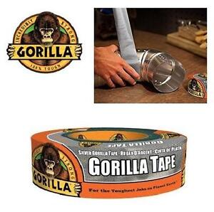 NEW GORILLA DUCT TAPE 35 YRD SILVER - 103006590 - YARD HOUSEHOLD RENO CRAFTS ADHESIVE 1.88INCH WIDTH