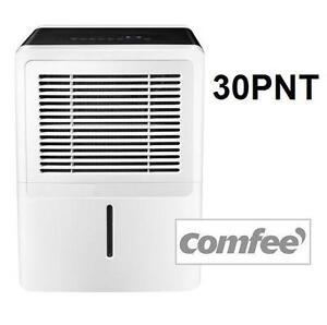 USED COMFEE 30 PINT DEHUMIDIFIER - 107028581 - 30 PINTS/DAY - 6,3 PINT TANK HEATING COOLING FAN FANS AIR QUALITY DEHU...