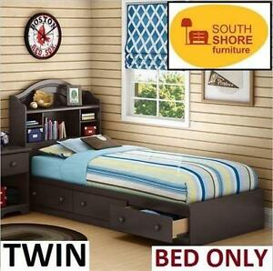 NEW SOUTH SHORE TWIN STORAGE BED - 108207514 - CHOCOLATE - HOME - FURNITURE - BEDROOM
