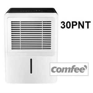 USED COMFEE 30 PINT DEHUMIDIFIER 30 PINTS/DAY - 6,3 PINT TANK HEATING COOLING FAN FANS AIR QUALITY DEHUMIDIFIERS