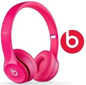 REFURB BEATS SOLO2 HEADPHONES PINK - SOLO 2 OVER EAR AUDIO 83976979