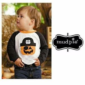 NEW MUDPIE SHIRT BOYS' MED 2T-3T   HALLOWEEN - PUMPKIN CLOTHING INFANT CHILD BOY GIRL TODDLER 84601175