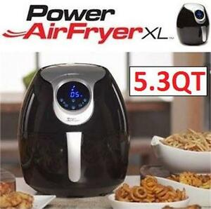 NEW POWER AIR FRYER XL 5.3QT/BLACK DEEP FRYER - KITCHEN - COOKING home 74238869
