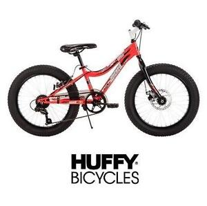 """NEW* WICKED GRIZZLY 20"""" BOYS BIKE FAT TIRE BICYCLE BLACK/RED HUFFY BOYS 107825830"""
