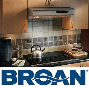 """NEW BROAN ALLURE RANGE HOOD 30"""" STAINLESS STEEL HOME KITCHEN STOVE Appliances"""