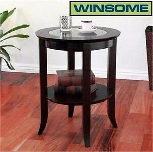 NEW WINSOME WOOD GENOA END TABLE   ESPRESSO - furniture home decor living room 93478477