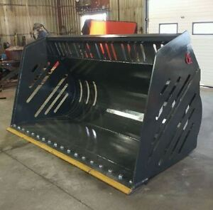 LOADER & SKIDSTEER SNOW BUCKETS, CANADIAN BUILT