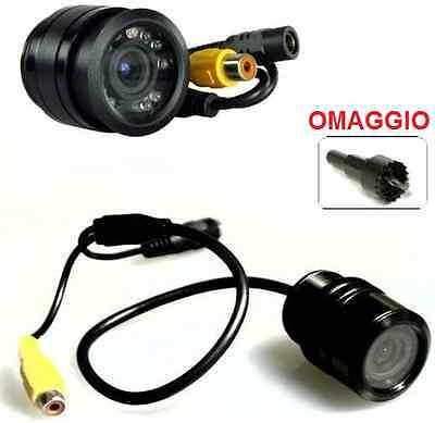 Videocamera infrarossi retromarcia parcheggio sensori auto.Tenuta stagna,5m RCA.