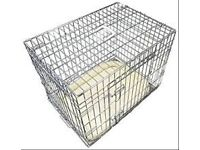 Ellie -Bo silver dog crate and bedding