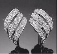 New Swarovski Elements crystal 18k white gold plated earrings Fredericton New Brunswick Preview