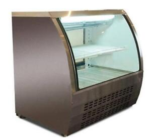 Curved Glass Refrigerated Showcase - Brand New w/ Factory Warranty