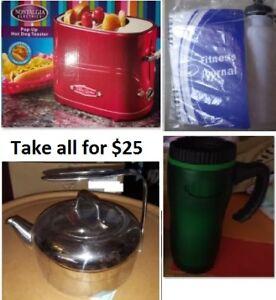 Kitchen Stuff Lot (Take all for $25)