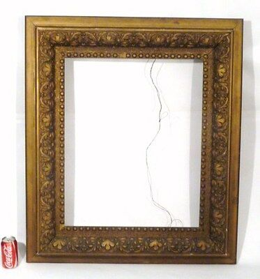 "LARGE DEEP  ANTIQUE VICTORIAN PICTURE FRAME   1880's  Wood & Gesso  39""x 34"""