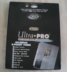 Box of 100 Nearly New Ultra Pro Platinum 9 Card Collector Sheets Oakville / Halton Region Toronto (GTA) image 1