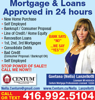 MORTGAGES & LOANS APPROVED IN 24 HOURS