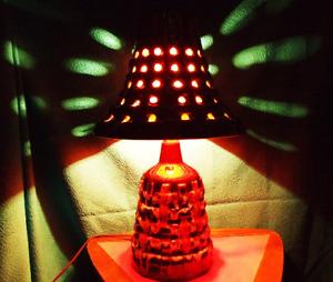 Mid Century Drip Glaze Lamp
