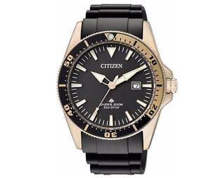 Citizen Mens Eco Drive Professional Divers Watch 200m Luminous BN0104-09E