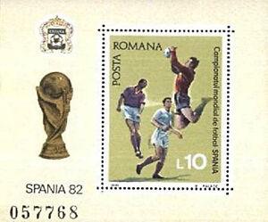 Romania 1981 Mi BL 184 ** Sport Football Fußball Piłka Nożna Spanien -  Dabrowa, Polska - Romania 1981 Mi BL 184 ** Sport Football Fußball Piłka Nożna Spanien -  Dabrowa, Polska