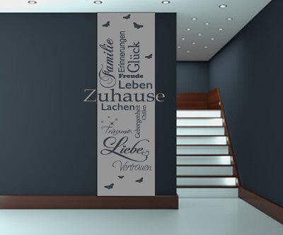 hause Familie Glück Liebe Träume Banner Flur Eingang WA-211 (Liebe Banner)