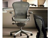 Herman Miller Aeron Office Chairs - Green - 3 Available