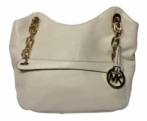 Michael Kors Lilly Large Vanilla Tote Bag l Lamb Leather NWOT