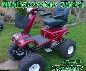 mobility scooter wanted