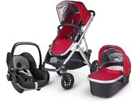 UPPAbaby Vista Pushchair in Denny Red 2015 Including Maxi-Cosi Pebble