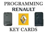 Replacement Renault Megane/Scenic Key Cards Southend on sea - 07504 816795