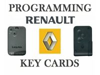 Replacement Renault Megane/Scenic Key Cards Shoeburyness - 07504 816795