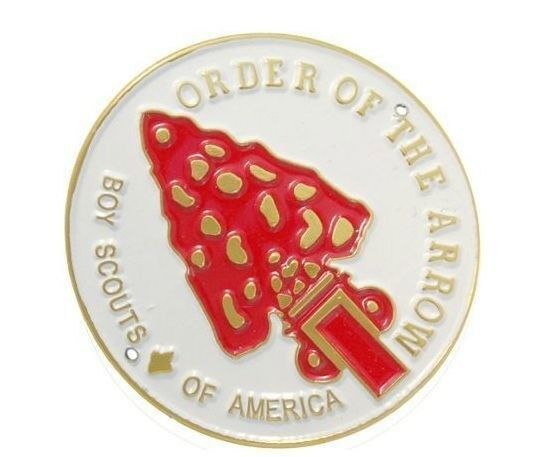 ORDER OF THE ARROW HIKING STAFF WALKING STICK MEDALLION BOY SCOUTS OF AMERICA OA