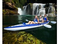 Aquaglide Chelan Tandem XL HB Inflatable Kayak for 2+ Paddlers