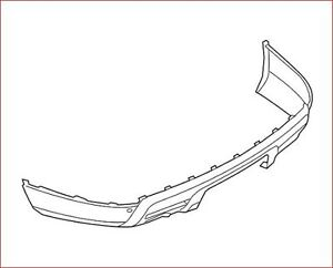 LOWER COVER - Ford (BB5Z-17F828-EA)rear bumper pare choc arrière