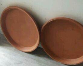 Terracotta pot saucers