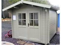 NEW Belluno Log Cabin with FREE ROOFING SHINGLES