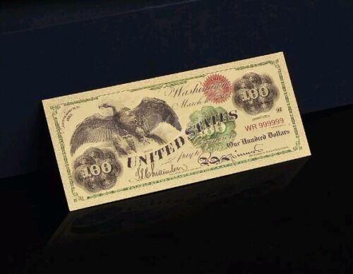 "<MINT GEM CONDITION>1899 ""GOLD"" $100 HUNDRED Banknote W/ COA~U.S SELLER~FAST SHP"
