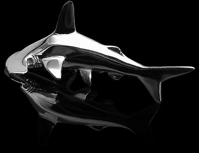 Baruna Silver Hammerhai Anhänger, Taucherschmuck 925er Sterling