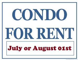 Condo for Rent Available July 01st or August 01st. 2018