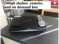 SKY+ HD BOX 500GB DRX890 comes with remote and Sky Wireless SD501 WiFi Connector,viewing card.
